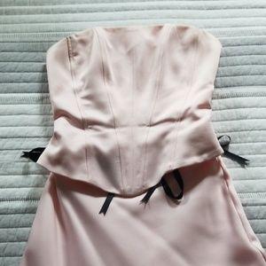 scene Dresses - Light Pink Corset Top & skirt with train set